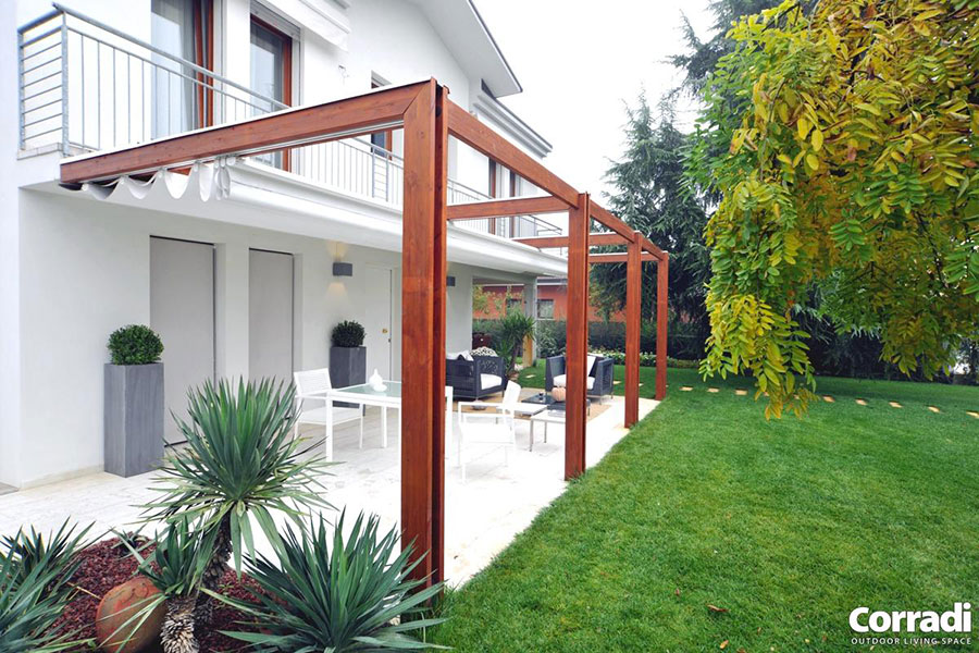 Wooden pergola for gardens or terraces n.04