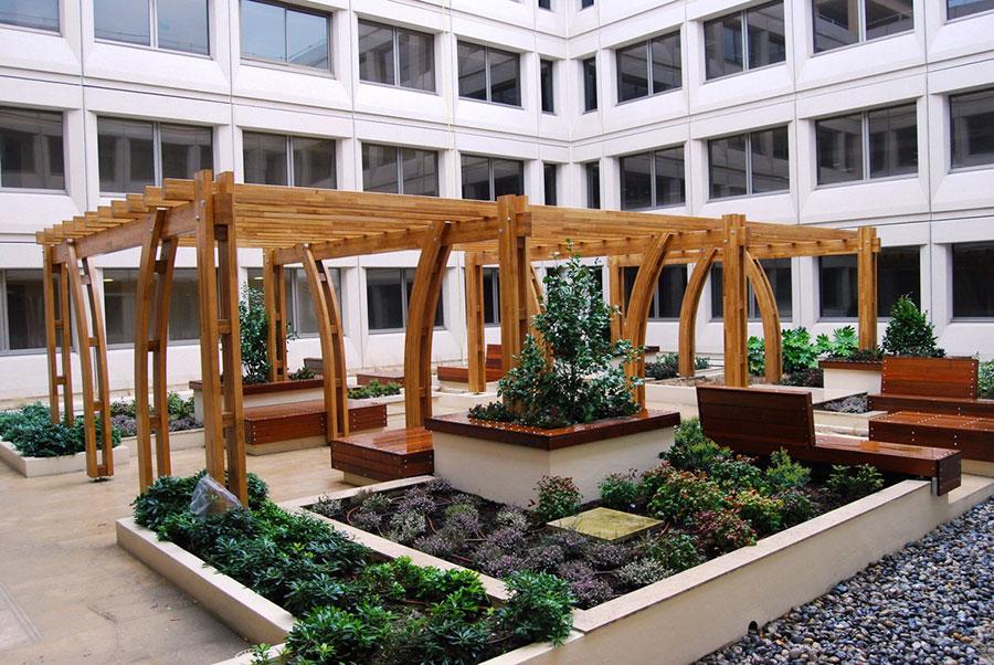 Wooden pergola for gardens or terraces n.27