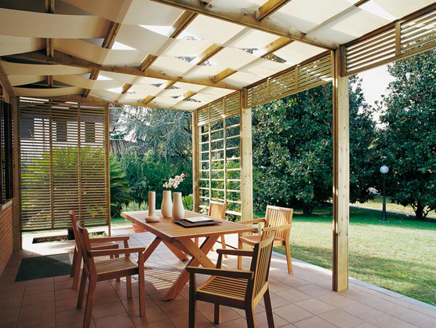 Wooden pergola for gardens or terraces n.23