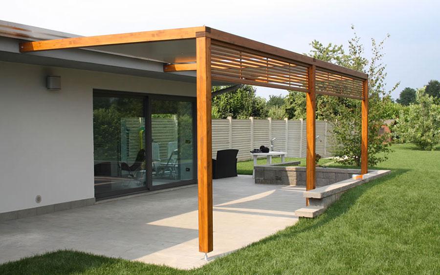 Wooden pergola for gardens or terraces n.16