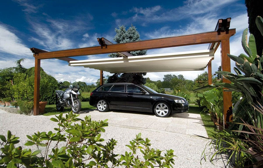 Self-supporting wooden pergola for gardens or terraces n.32