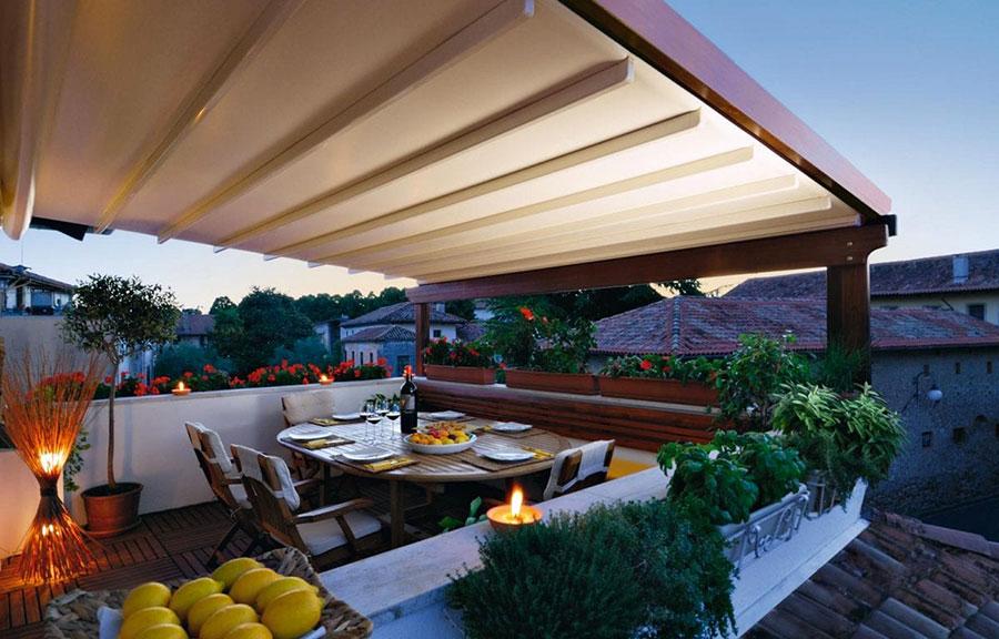Freestanding wooden pergola for gardens or terraces n.31