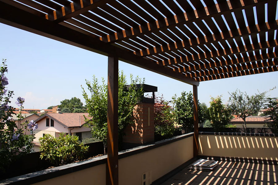 Wooden pergola for gardens or terraces n.17