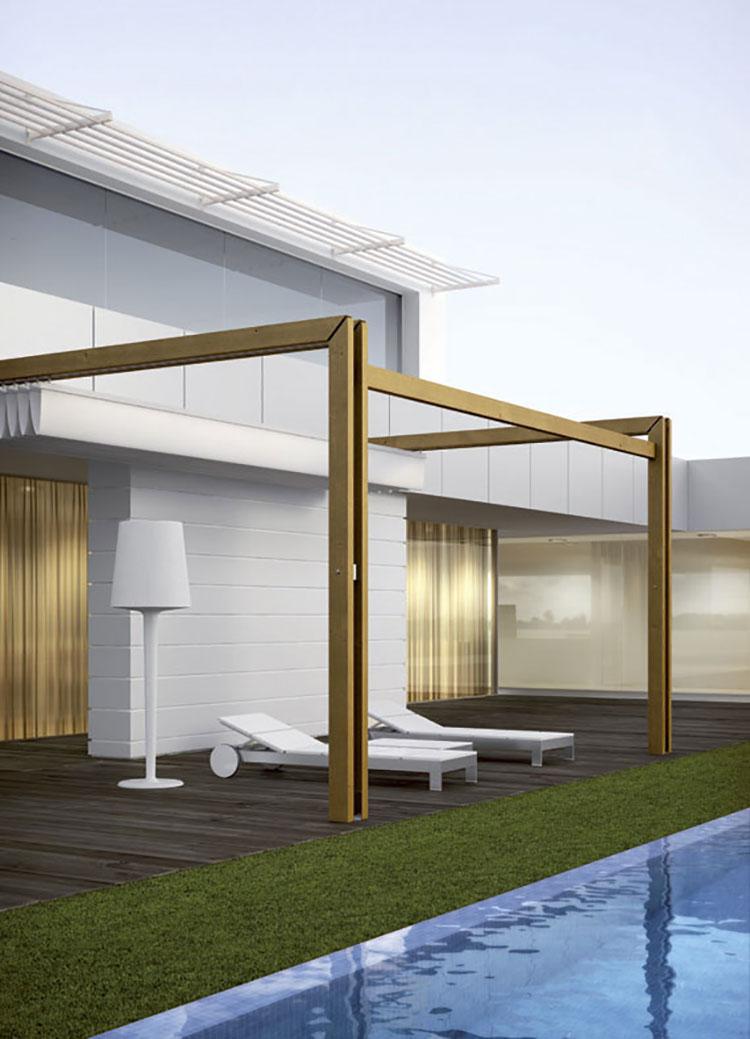 Wooden pergola for gardens or terraces n.26