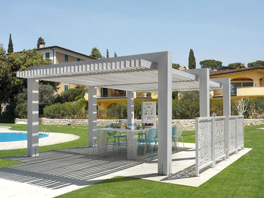 Self-supporting wooden pergola for gardens or terraces n.34