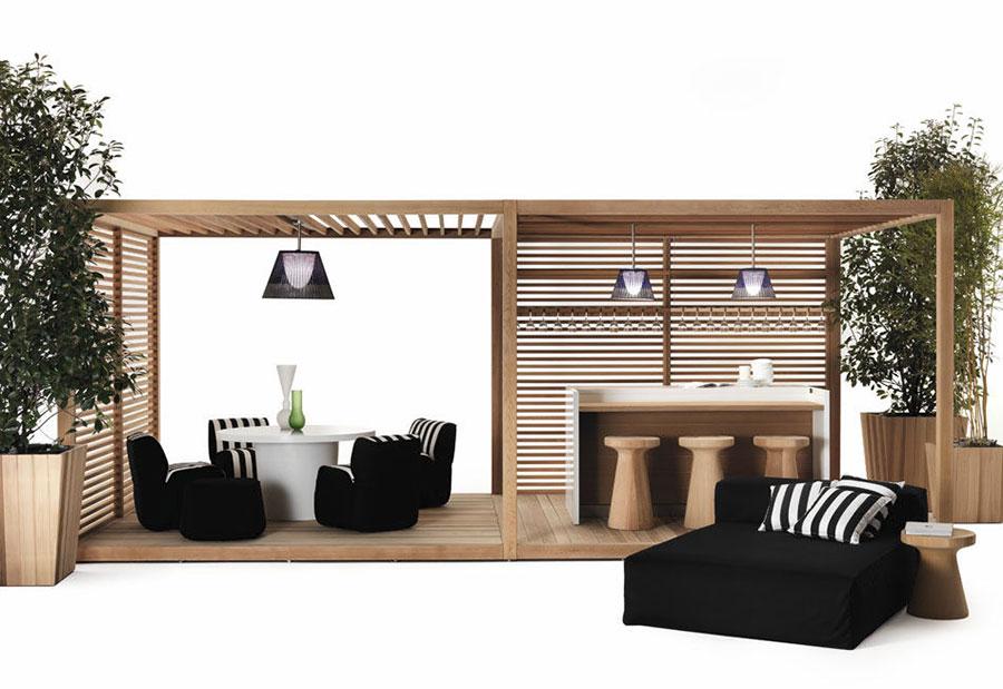 Wooden pergola for gardens or terraces n.21