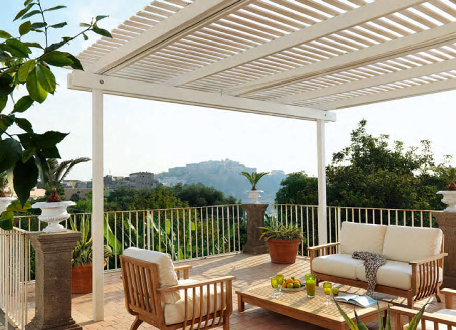 Wooden pergola for gardens or terraces n.09