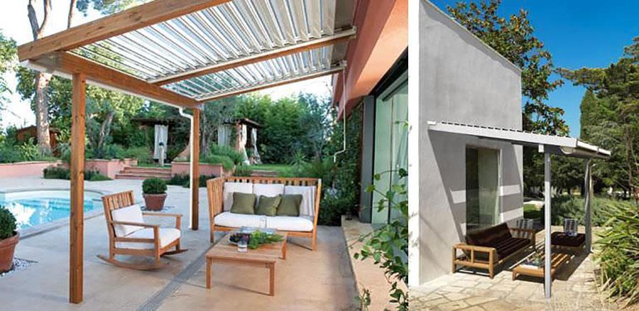 Wooden pergola for gardens or terraces n.10