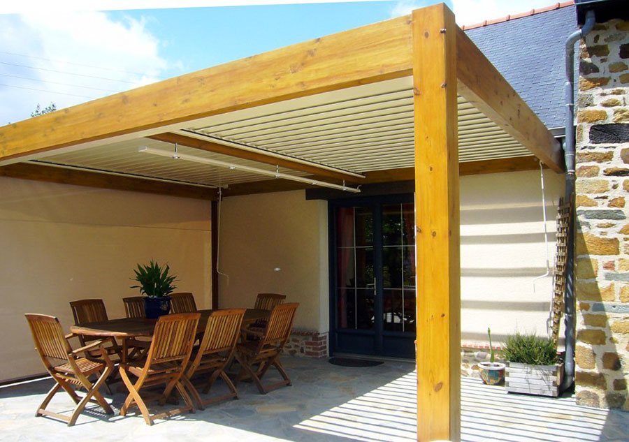 Wooden pergola for gardens or terraces n.18
