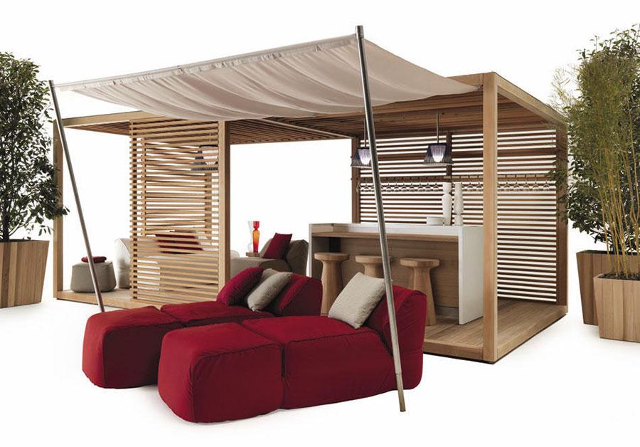Wooden pergola for gardens or terraces n.22