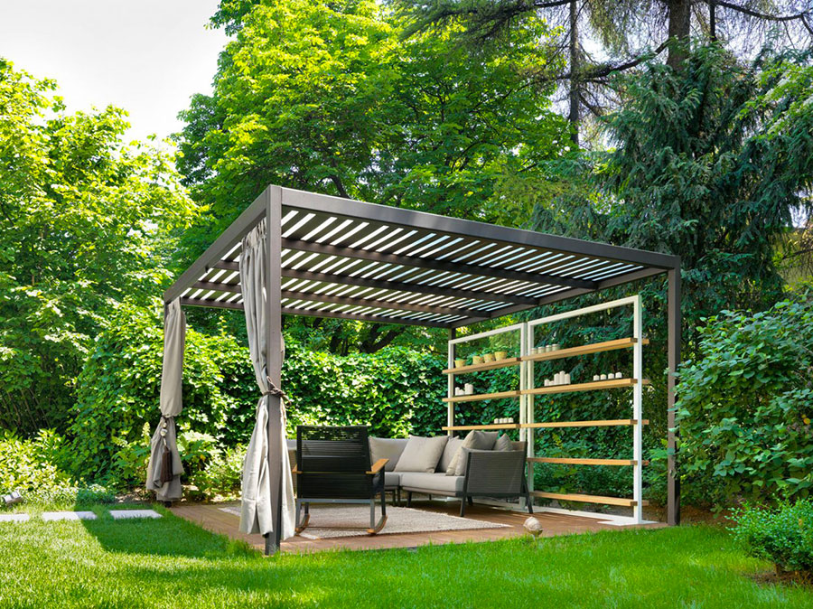 Self-supporting wooden pergola for gardens or terraces n.35