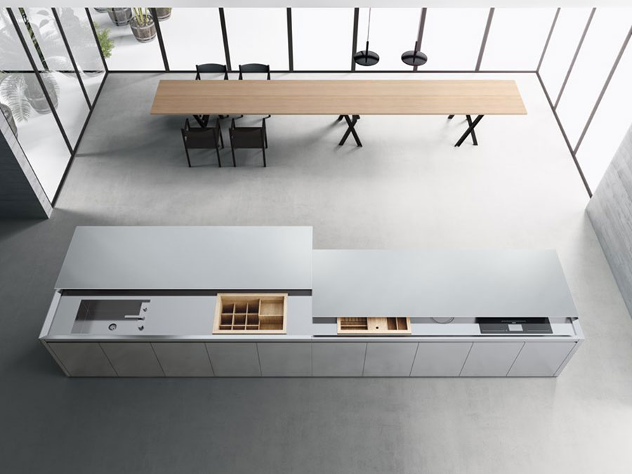 Kitchen model in stainless steel n.05