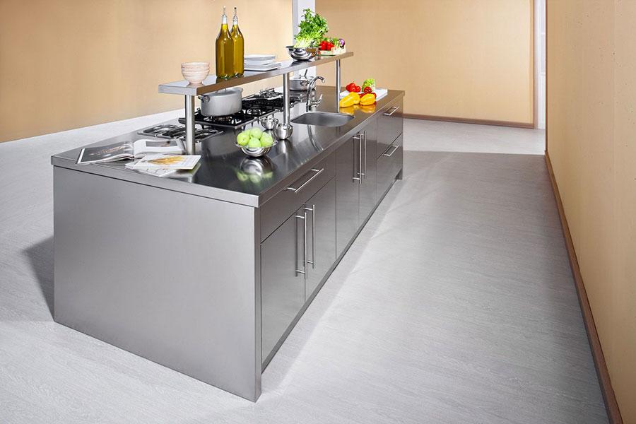 Modern industrial style steel kitchen n.08