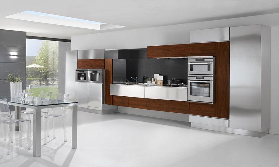 Modern industrial style steel kitchen n.03