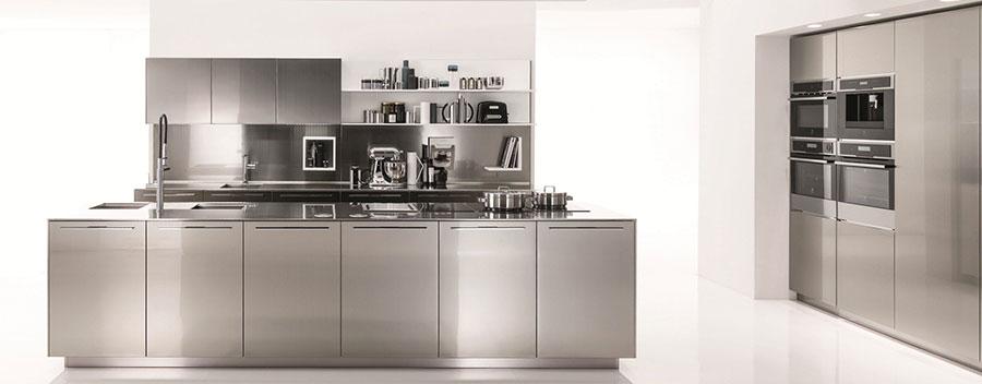 Modern industrial style steel kitchen n.11