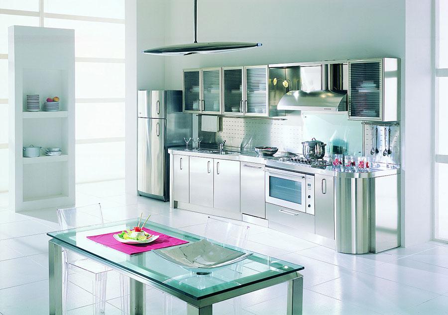 Modern industrial style steel kitchen n.04