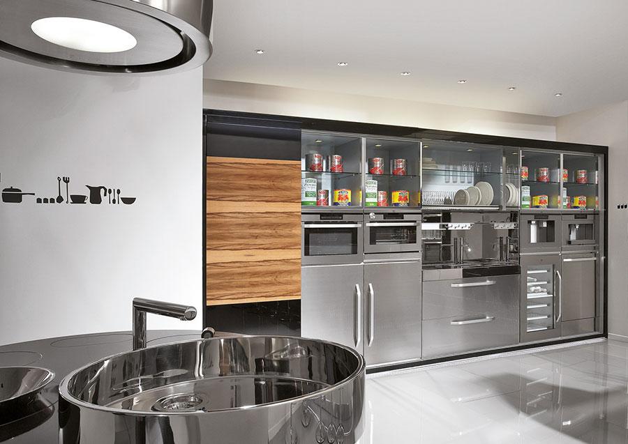Modern steel kitchen in industrial style n.16
