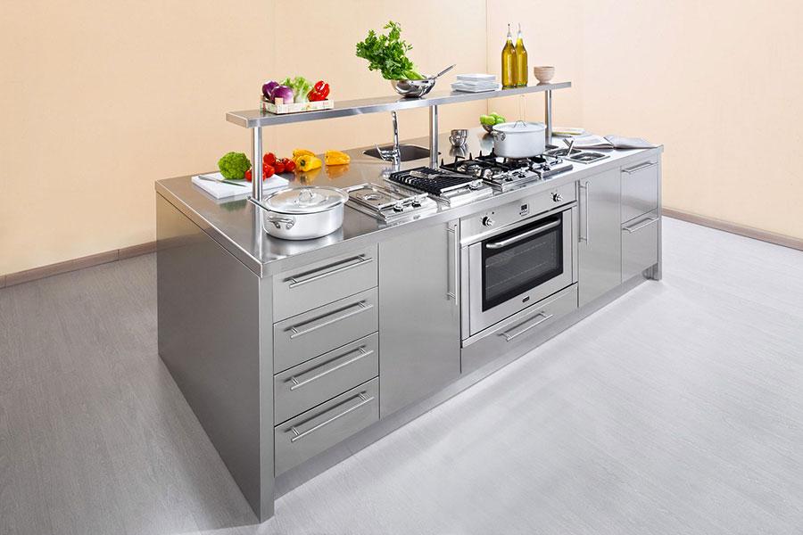 Modern industrial style steel kitchen n.07