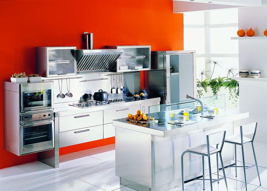 Modern industrial style steel kitchen n.05