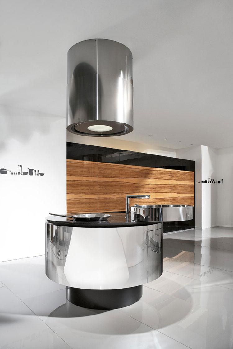 Modern steel kitchen in industrial style n.15