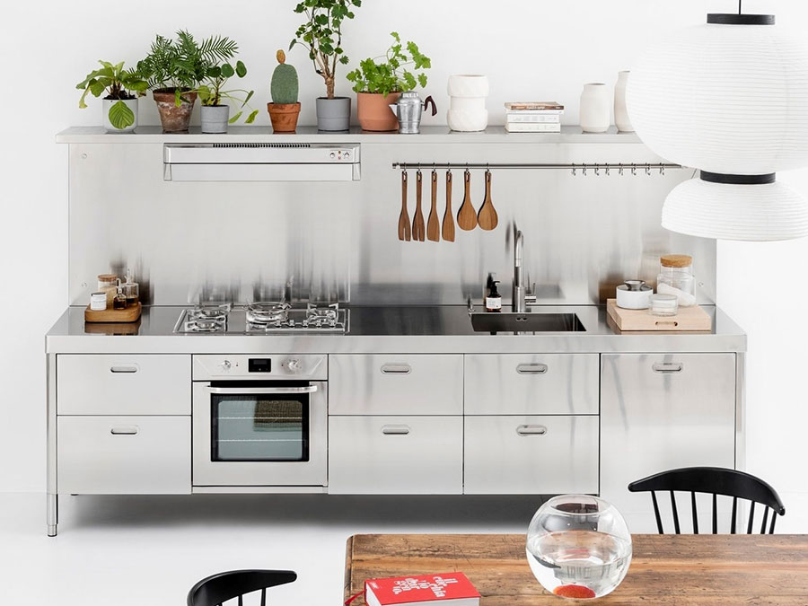Stainless steel kitchen model n.03