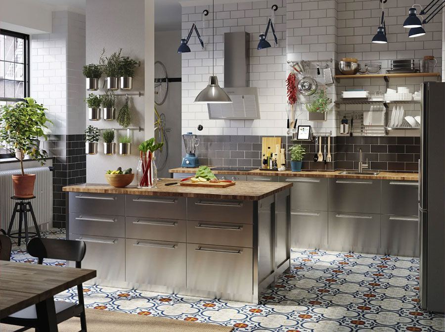 Steel kitchen model from Ikea # 02