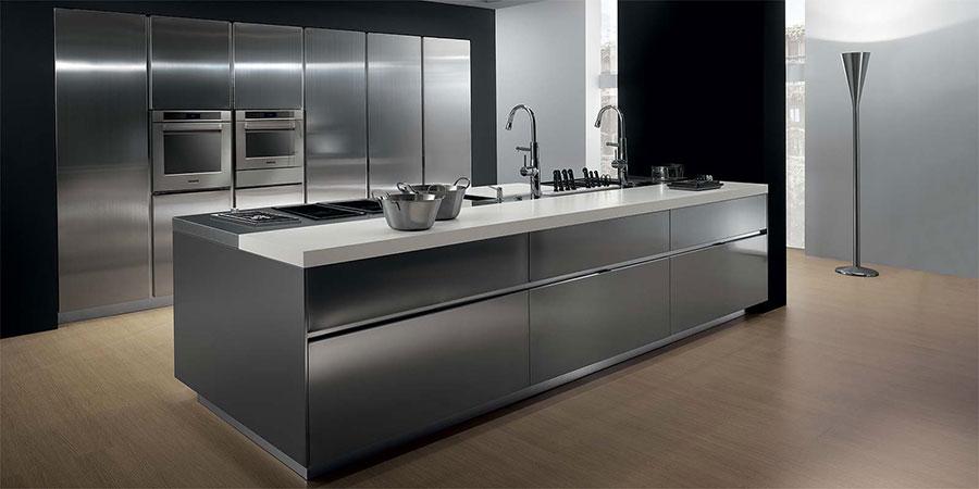 Modern industrial style steel kitchen n.20