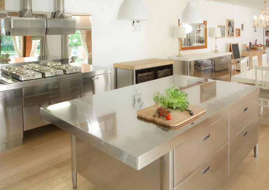Modern industrial style steel kitchen n.09