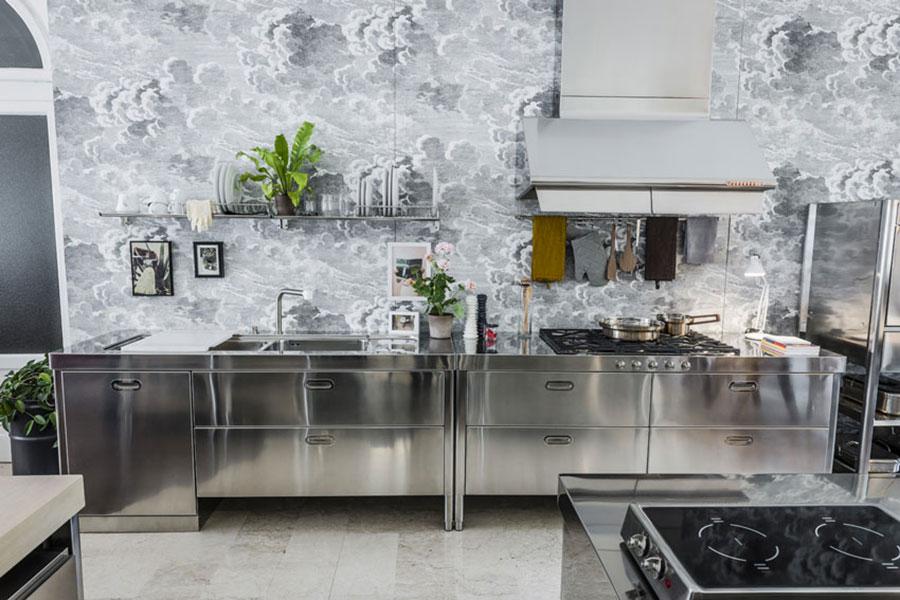 Stainless steel kitchen model n.01