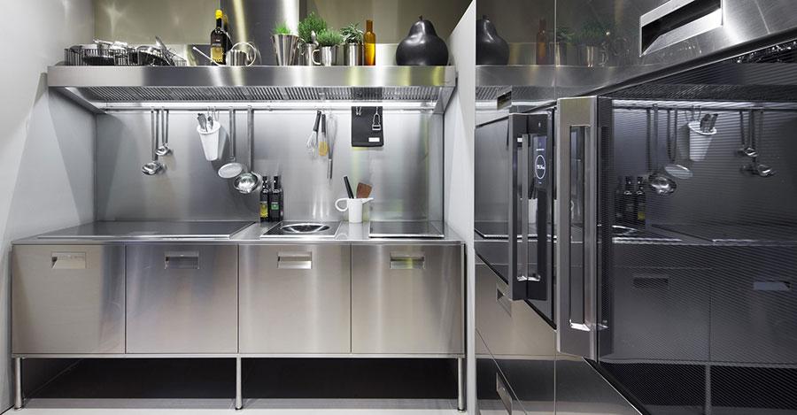 Modern industrial style steel kitchen n.14