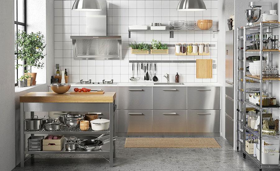 Steel kitchen model from Ikea # 03