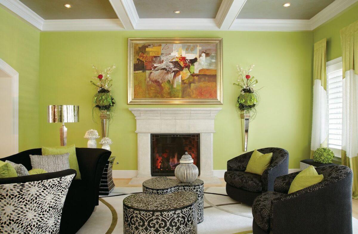 living room-walls-lime-green-8