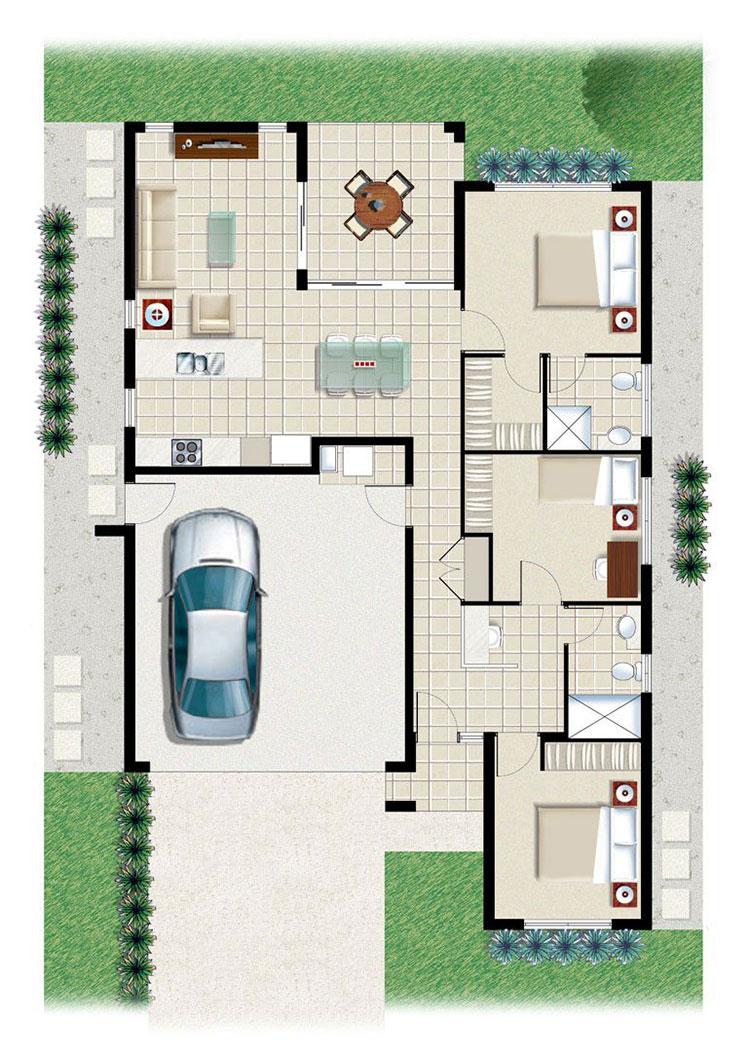 House plan ideas of 150 square meters n.03