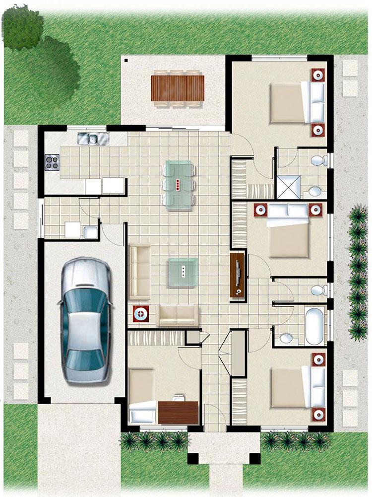 House plan ideas of 150 sqm n.05