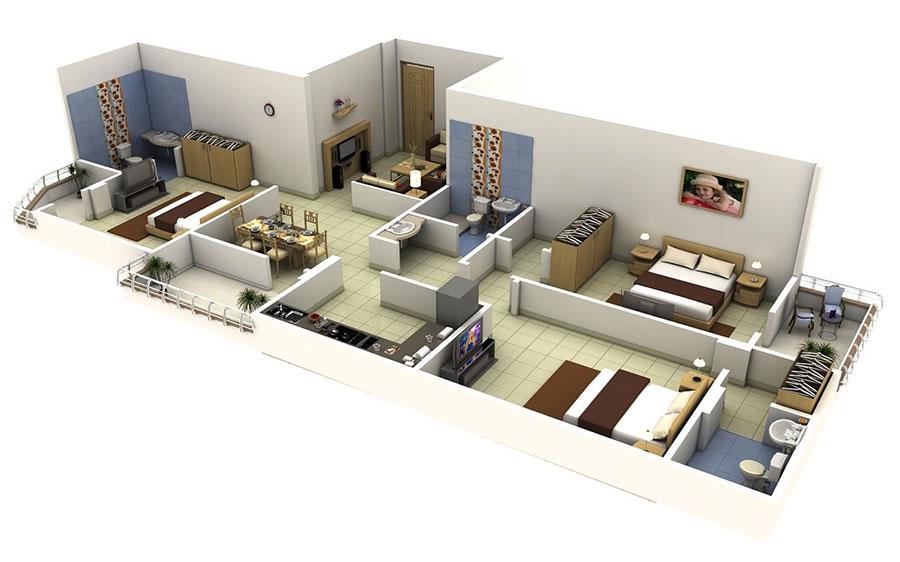 House plan ideas of 150 square meters n.13