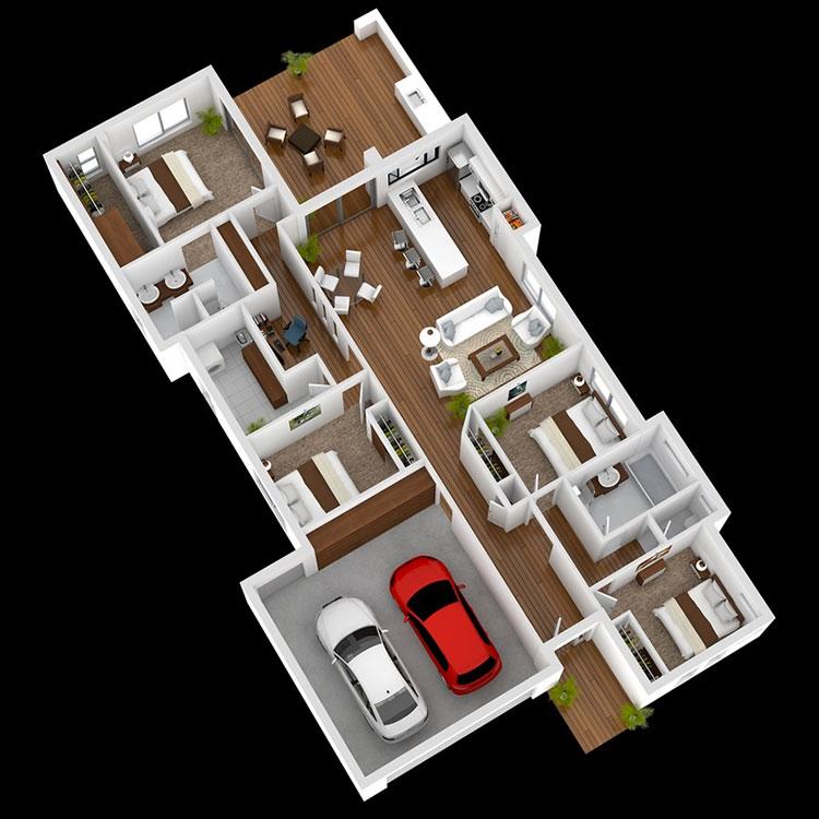House plan ideas of 150 square meters n.08