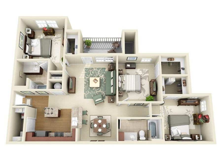 House plan ideas of 150 square meters n.11