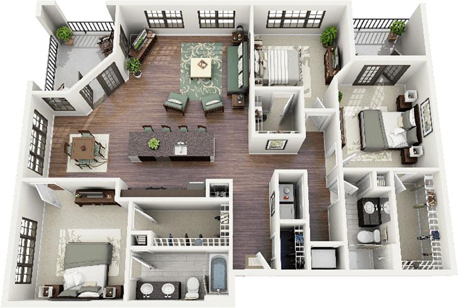 House plan ideas of 150 square meters n.15