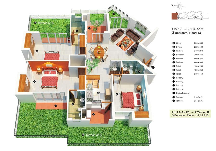 House plan ideas of 150 square meters n.10