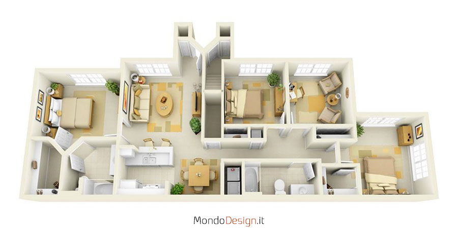 Planimetria casa 150 mq