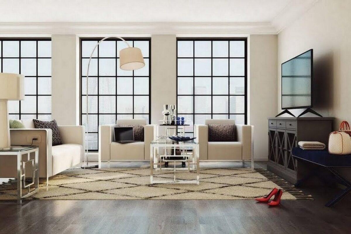 living room-walls-cream