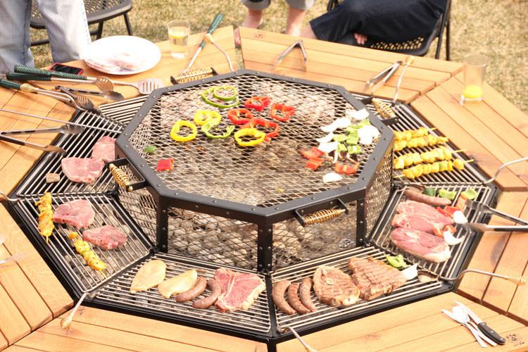 Beautiful three-in-one grill # 03