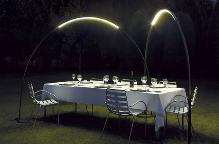 Modern garden lamps for outdoor
