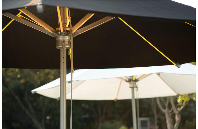 Parasol with integrated led lights n.3