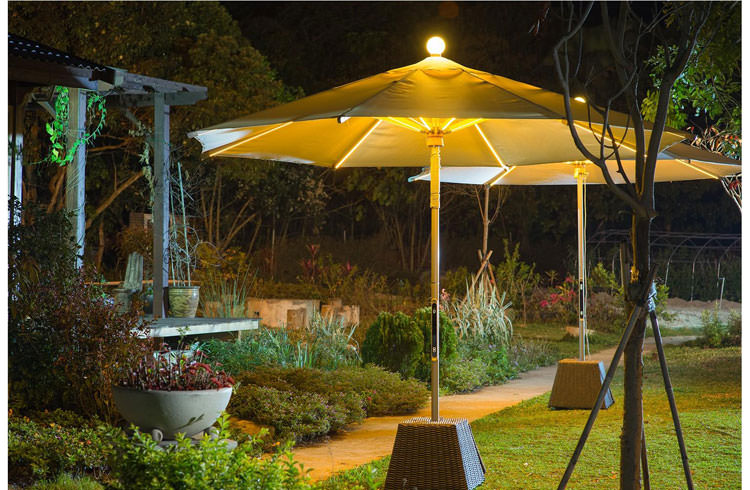 Parasol with integrated led lights n.2