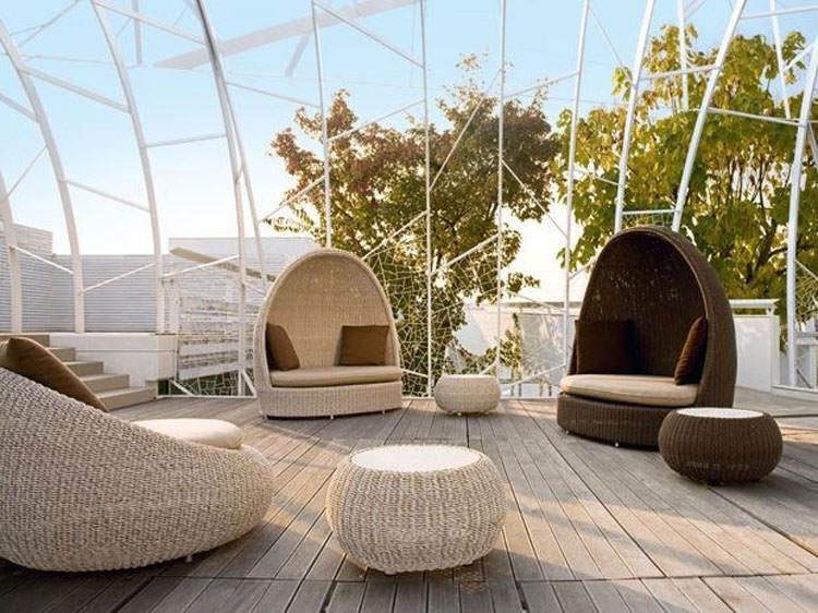 Rattan garden igloo n.02