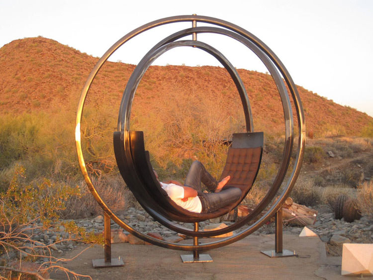Spectacular interactive outdoor chair n.01