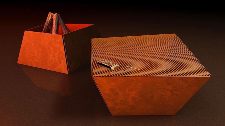 Design outdoor brazier model n.09