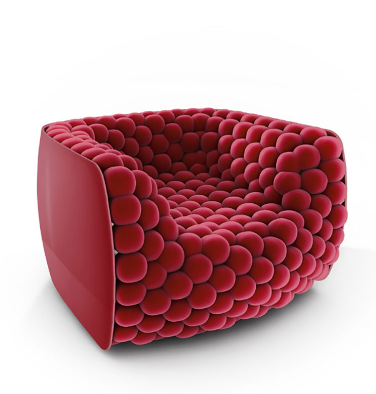 Blueberry Armchair by Carlo Colombo