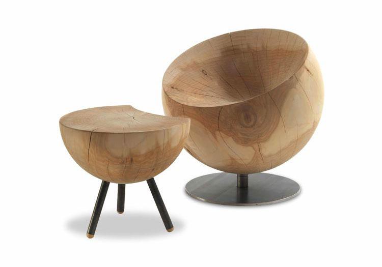 Globe armchair by Riva